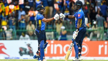 Kusal Mendis and Angelo Mathews put together a century stand