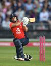 Katherine Brunt plays a shot, England v Australia, 3rd T20I, Bristol, July 31, 2019