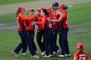 Mady Villiers celebrates the wicket of Alyssa Healy , England v Australia, 3rd T20I, Bristol, July 31, 2019