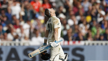 Steven Smith looks to the skies