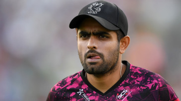 Babar Azam licks his lips