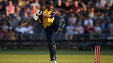 Dan Lawrence's wristy strokeplay was on full show