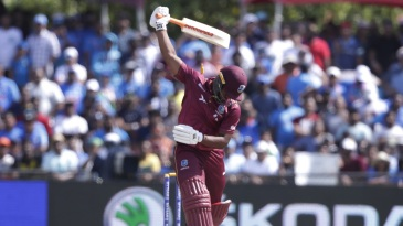 Evin Lewis lost his stumps to a knuckle ball