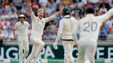 Ben Stokes claimed the breakthrough wicket of Usman Khawaja