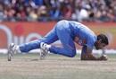 Bhuvneshwar Kumar clings onto a return catch, West Indies v India, 2nd T20I, Lauderhill, August 4, 2019