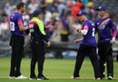 Michael Klinger questions an over-rate penalty with Umpire Ian Gould, Gloucestershire v Sussex, Vitality Blast, South Group, Bristol, August 04, 2019