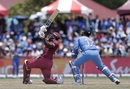 Rovman Powell muscles a slog-sweep, West Indies v India, 2nd T20I, Lauderhill, August 4, 2019