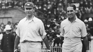 Herbert Sutcliffe (right) made 176 and 127 in his two innings in the second Ashes Test in 1925, but England still lost the match by 81 runs