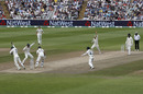Nathan Lyon celebrates dismissing Ben Stokes, England v Australia, 1st Test, Birmingham, 5th day, August 5, 2019