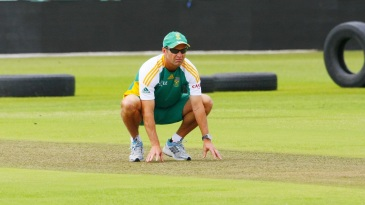 Gary Kirsten gets a feel of the conditions at Kingsmead