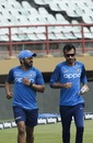 Kedar Jadhav and Yuzvendra Chahal during the warm-ups, West Indies v India, 1st ODI, Guyana, August 8, 2019