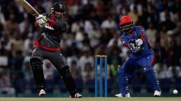 File photo - Ghulam Shabber slaps one through the off side