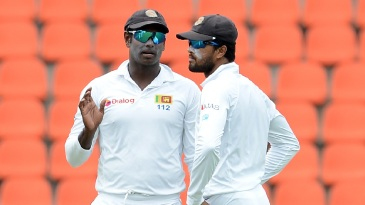 Angelo Mathews and Dinesh Chandimal are both back in the Test squad