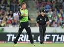 Chris Green celebrates a Big Bash wicket for the Thunder