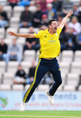 Chris Wood celebrates a wicket, Hampshire v Somerset, Vitality Blast, South Group, August 9, 2019