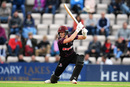 Tom Abell is down on one knee to drive, Hampshire v Somerset, Vitality Blast, South Group, August 9, 2019