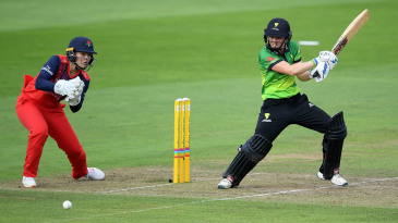 Heather Knight flays one away through cover point