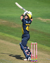 Colin Ingram uppercuts from the crease, Glamorgan v Surrey, Vitality Blast, South Group, Cardiff, August 11, 2019