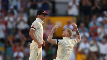Sam Curran and Ben Stokes celebrate