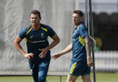 Josh Hazlewood and James Pattinson bowl in the nets, Lord's, August 12, 2019