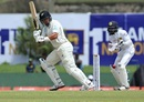 Ross Taylor goes deep in his crease and tucks one around the corner, Sri Lanka v New Zealand, 1st Test, Galle, 1st day, August 14, 2019