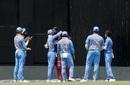 Virat Kohli hugs Chris Gayle after he is dismissed, West Indies v India, 3rd ODI, Port-of-Spain, August 14, 2019