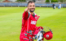 Fayyaz Butt walks off elated with 32* in an unbeaten 90-run seventh wicket stand to take Oman to their maiden ODI win, Oman v Papua New Guinea, CWC League Two tri-series, 1st ODI, Aberdeen, August 14, 2019