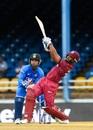 Nicholas Pooran swings one over midwicket, West Indies v India, 3rd ODI, Port-of-Spain, August 14, 2019