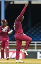 Fabian Allen celebrates a wicket, West Indies v India, 3rd ODI, Port-of-Spain, August 14, 2019