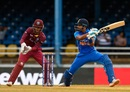 Shreyas Iyer punishes a short ball, West Indies v India, 3rd ODI, Port of Spain, August 14, 2019