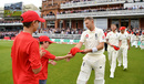 Joe Root hands over his red cap, England v Australia, 2nd Test, Lord's, 2nd day, August 15, 2019