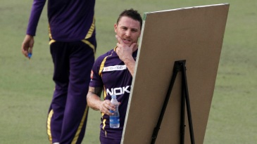 Back to the drawing board - Brendon McCullum during a KKR training session in 2012