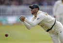 David Warner put down a tough chance to give Stuart Broad a life, England v Australia, 2nd Test, Lord's, 2nd day, August 15, 2019