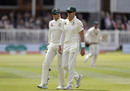 Tim Paine chats to Peter Siddle as Australia search for another breakthrough, England v Australia, 2nd Ashes Test, Lord's, Day 2, August 15, 2019