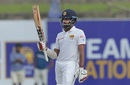 Lahiru Thirimanne celebrates his fifty, Sri Lanka v New Zealand, 1st Test, Galle, 4th day, August 17, 2019