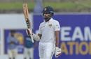 Lahiru Thirimanne celebrates his fifty, Sri Lanka v New Zealand, 1st Test, Galle, 4th day, August 17, 2019