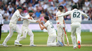 Pat Cummins claimed a return catch to dismiss Jason Roy, England v Australia, 2nd Test, Lord's, 4th day, August 17, 2019