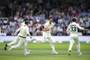 Pat Cummins struck twice with successive deliveries, England v Australia, 2nd Test, Lord's, 4th day, August 17, 2019