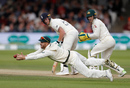 The second of chances David Warner put down at slip offered by Ben Stokes off Nathan Lyon, England v Australia, 2nd Test, Lord's, 4th day, August 17, 2019