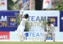 Dimuth Karunaratne swipes over midwicket, Sri Lanka v New Zealand, 1st Test, Galle, 5th day, August 18, 2019