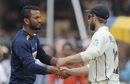 Dimuth Karunaratne and Kane Williamson shake hands, Sri Lanka v New Zealand, 1st Test, Galle, 5th day, August 18, 2019