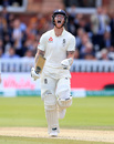 Ben Stokes roars as he goes through to his hundred, England v Australia, 2nd Test, Lord's, 5th day, August 18, 2019