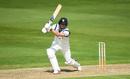 Will Rhodes gets forward to drive, Warwickshire v Somerset, County Championship, Edgbaston, August 18, 2019