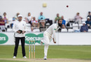 Moeen Ali had a long bowl on his Championship return, Northamptonshire v Worcestershire, Day 2, County Championship, Wantage Road
