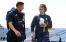 Joe Denly and Jason Roy chat during England net practice, Headingley, August 20, 2019