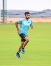 Jalaj Saxena warms up, India Blue v India Green, Just Cricket Academy Ground, 4th day, August 20, 2019