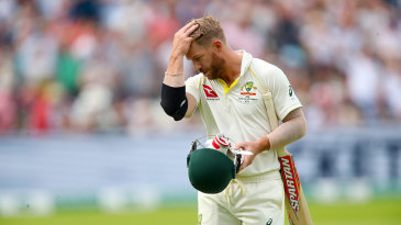David Warner has had a nightmare start to the series with the bat