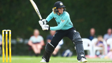 Sarah Taylor prepares to launch one over the top