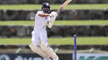 Ajinkya Rahane plays a pull