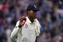 Jofra Archer takes the plaudits after his six-wicket haul, England v Australia, 3rd Ashes Test, Headingley, 1st day, August 22, 2019
